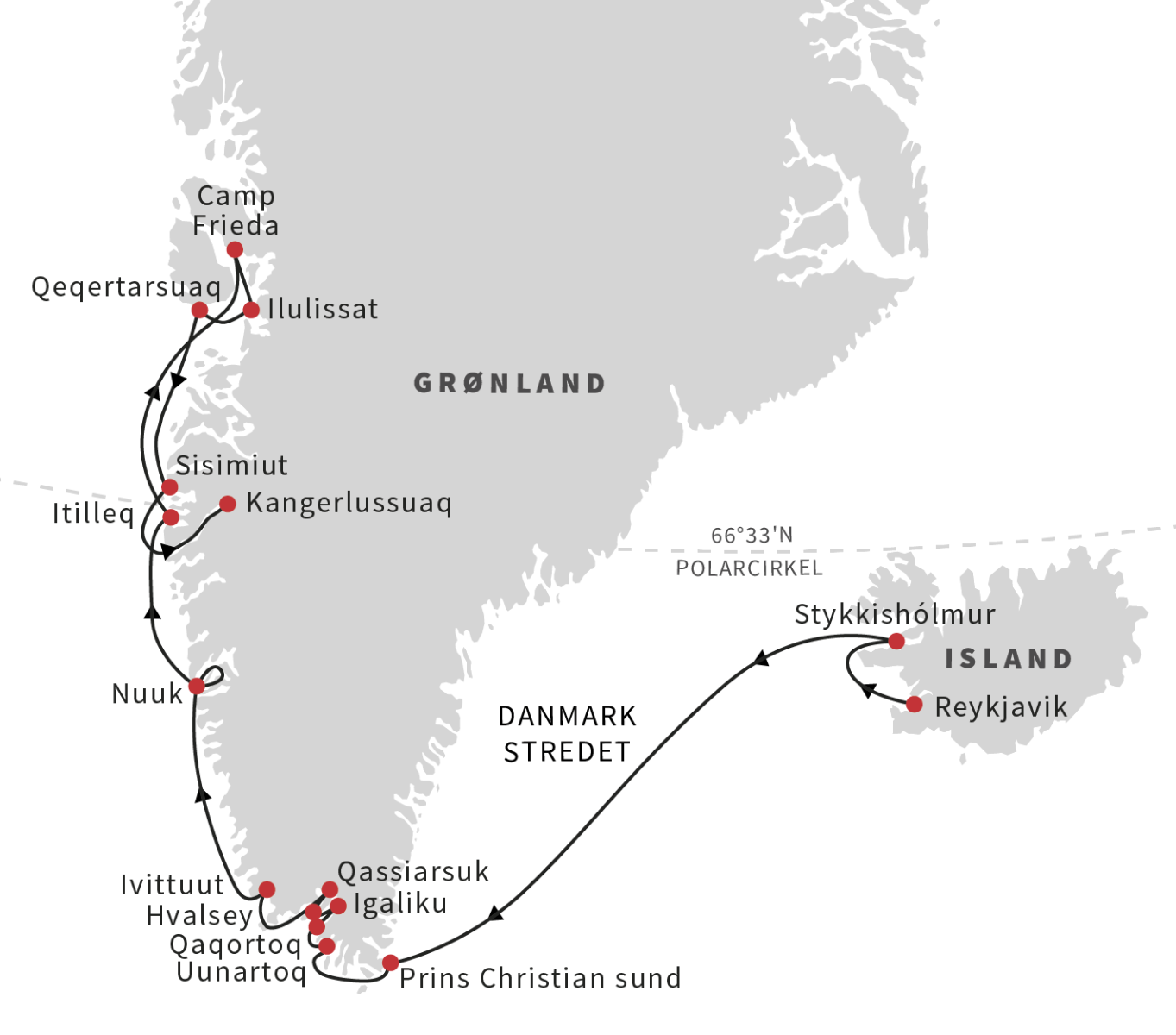 Grønland og Island i juli