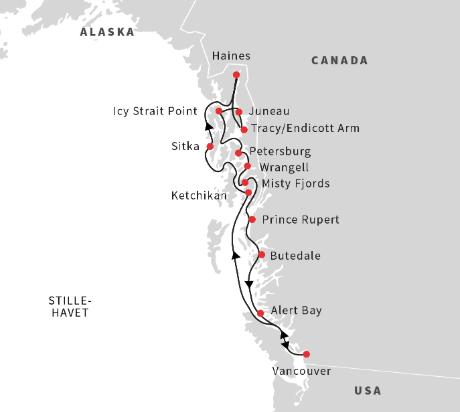 Alaska og British Columbia med Hurtigruten - Ruby Rejser