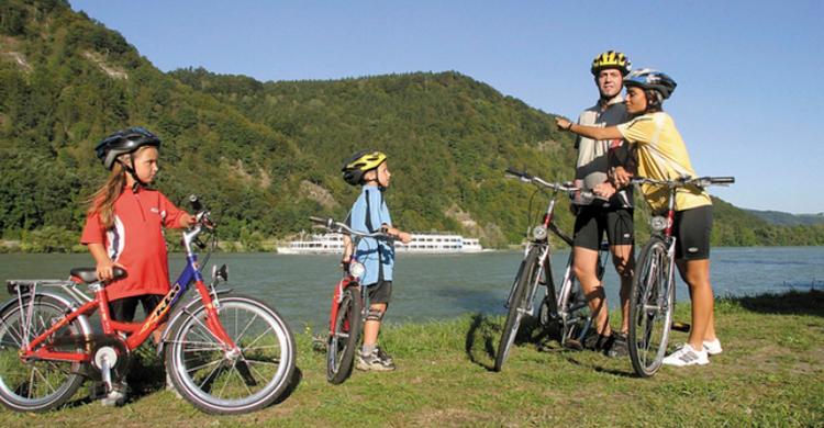 Familie cykelferie