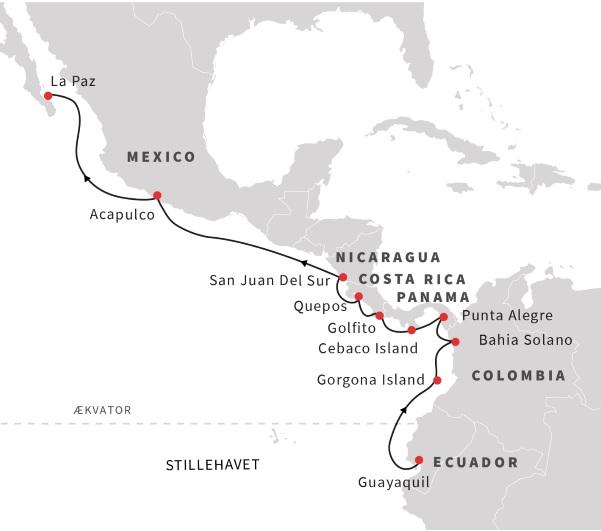 Fra Ecuador til Baja California med Hurtigruten - Travelnorth - en del af Ruby Rejser