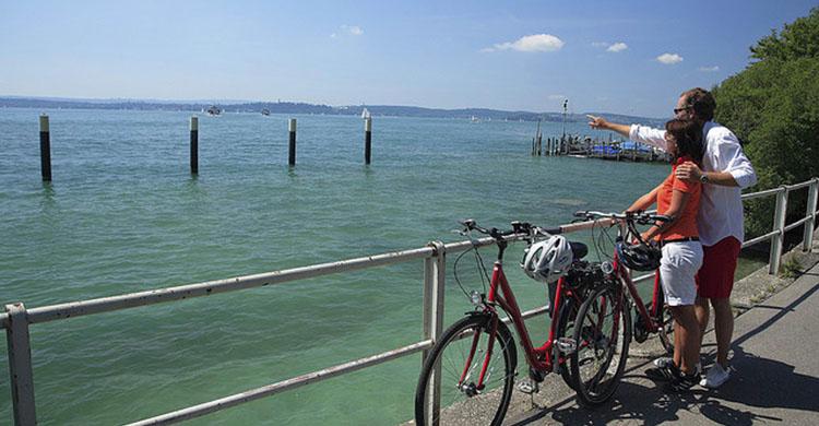 Cyklister ved Bodensøen