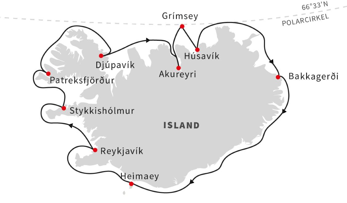 Rundt om Island med Hurtigruten - Ruby Rejser