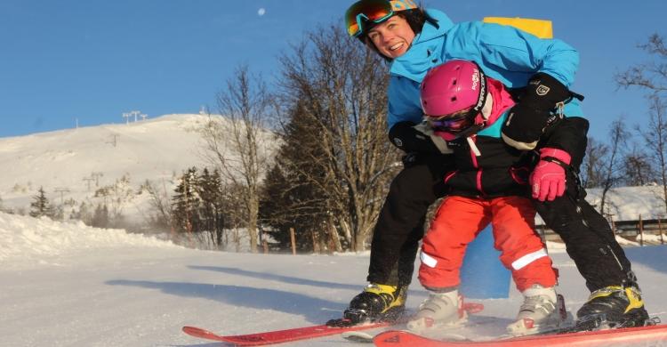 Skeikampen barn på ski