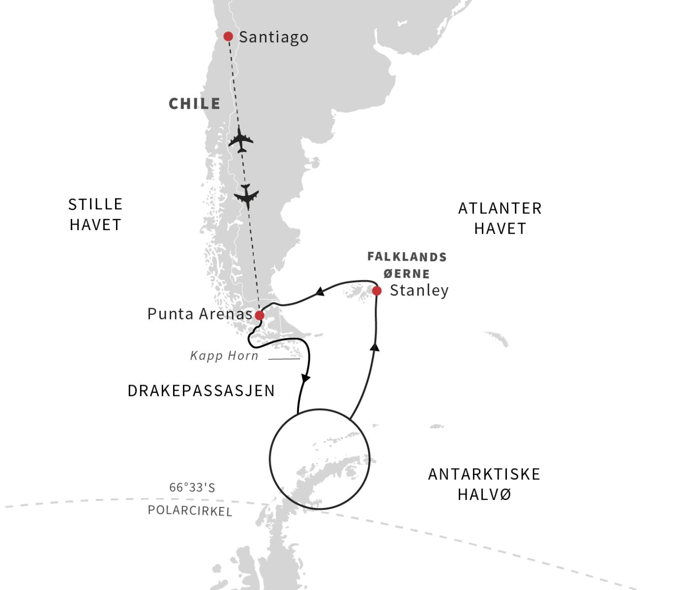 Falklandsøerne, Antarktis og chilenske fjorde med Hurtigruten - Ruby Rejser
