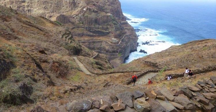Vandrere ved kysten i Kap Verde