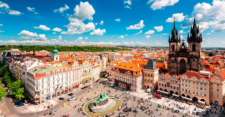 Den gamle bydel i Prag