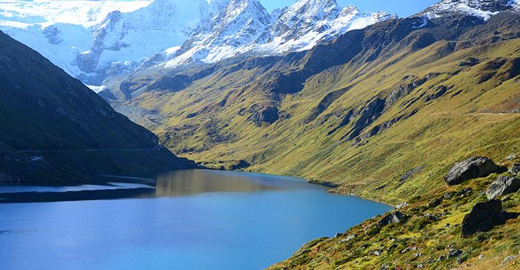 Krystalklar sø i Schweiz