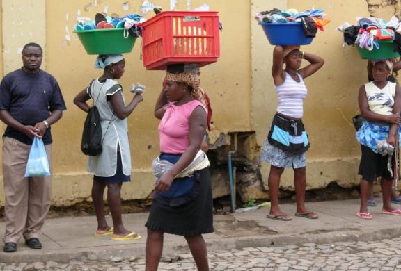 Gadebilledet i Kap Verde
