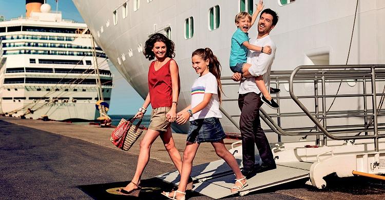 Familie på krydstogt