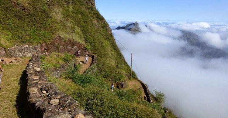 Vandrere i bjergene i Kap Verde