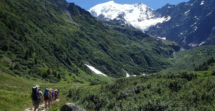 Vandrere ved Mont Blanc