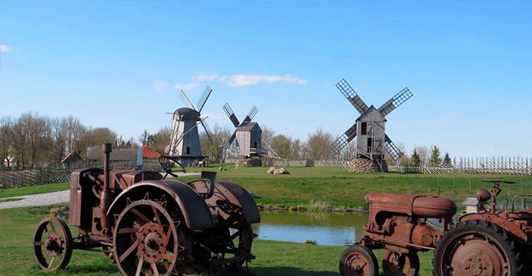 Gamle vindmøller i Estland