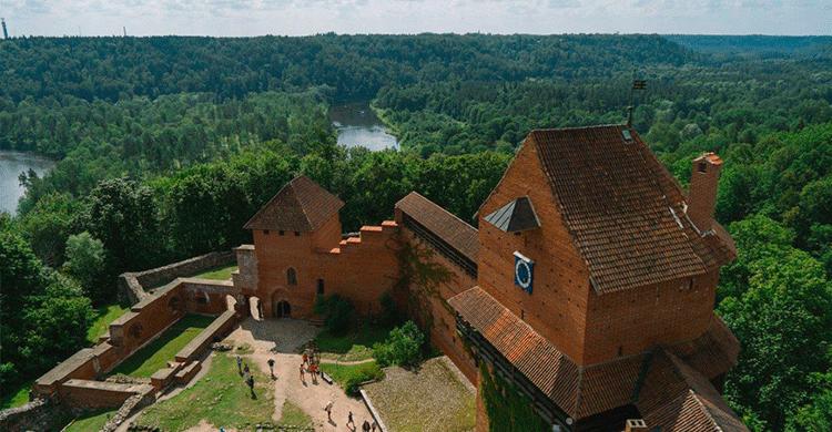 Turaida-slottet i Letland