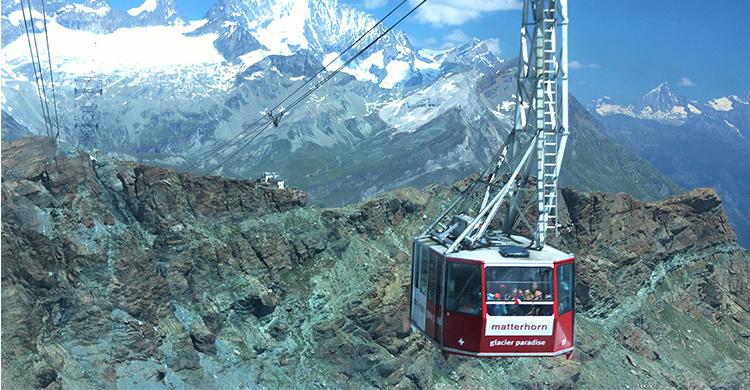 Kabelbane i de schweiziske alper