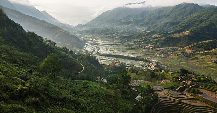 Terrassemarker i Vietnam