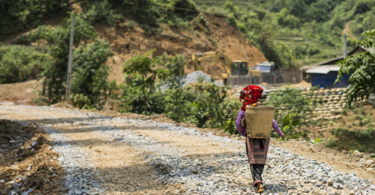 Lokal vandrer i Vietnam