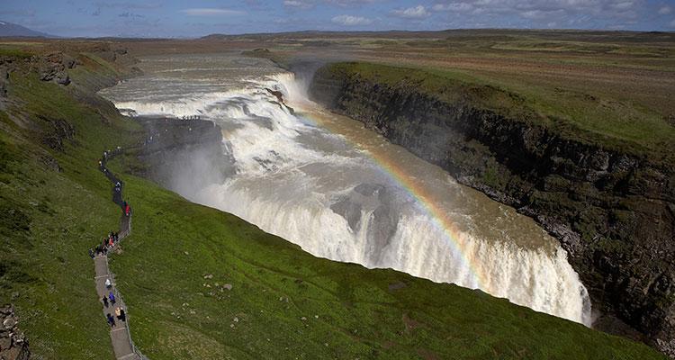 Det smukke Gullfoss vandfald