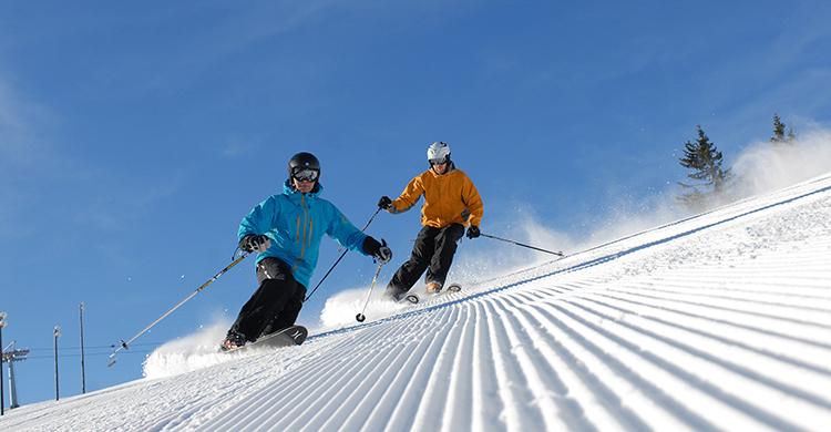 Skiløbere på Kvitfjell