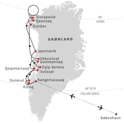 Vestgrønland og Thule - under midnatssolen med Hurtigruten - Ruby Rejser
